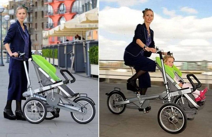 18 Коляска велосипед