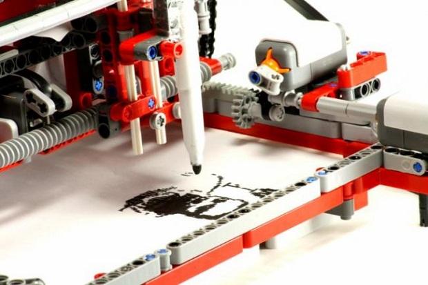 23  Lego дан ясалган принтер